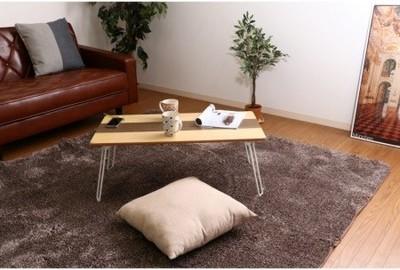 突板折畳ローテーブル ライン 8040