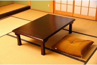 折脚和風座卓(額縁・W120)TLM-12075紫檀色
