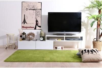 伸縮TVボード ホワイト